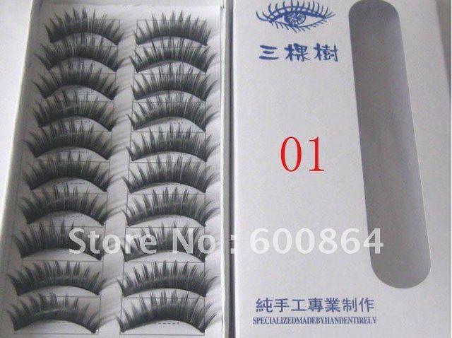 50pairs 01# Fashion Eyelashes False Eyelashes Fake Eyelashes artificial eyelash Hand made Eye lash