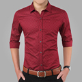 2017 New Spring Men Shirts Casual Slim Fit Long Sleeve Shirt For Male Designer Print Camisa Brand Dress Shirt Big Size M~5XL