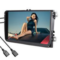 9 дюймов Автомобильный мультимедийный Wi Fi плеер gps навигатор HD Реверсивный Видео мобильный телефон управление Руль FM радио для Volkswagen