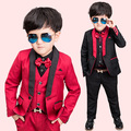 Formal Child Suits Vest Pant Blazers 3-Pieces Boys Clothing Sets Single Button Western Stye Wedding Flower Girls Dress Sets