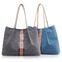 Hot Sale Eco Friendly Supermarket Shopping Bag Large Capacity Travel Handbags Retro Style Grocery Bags