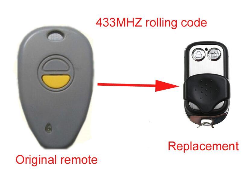 Twindoor garage Door replacement remote twindoor replacement remote control 433mhz free shipping