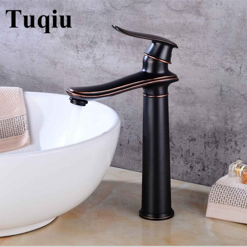 Basin Faucets Black Copper Bathroom Faucet Mixer Vintage Hot & Cold Cock Wash Basin Mixer Tap Sink Single Handle Crane micoe hot and cold water basin faucet mixer single handle single hole modern style chrome tap square multi function m hc203