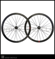 Velosa Brand Bicycle 700C 38mm Clincher Carbon Wheelset Disc Brake 24 24 H Wheels Road Cyclocross