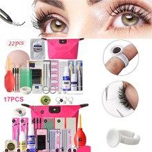 17/22Pcs Beginner Professional False Eyelashes Extension Training Mannequin Makeup  Practice Kits Tool