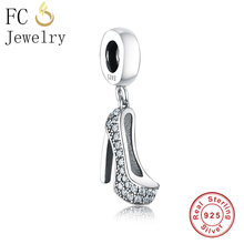 d7c957f3e35 FC Jewelry Fit Original Pandora Charms Bracelet Authentic 925 Silver Shoes  High Heel CZ Stone Beads for Making DIY Gift Berloque
