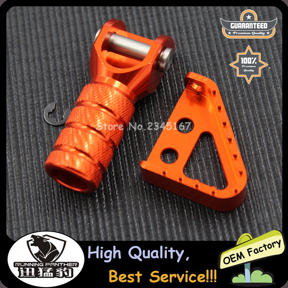 BJ Global High Quality Rear Brake Pedal Step Tips and Gear Shifter Lever Tip Set For SX EXC XCF XC XCW SXF EXCF SMR DUKE 125-530 690 950 ADVENTURE Black
