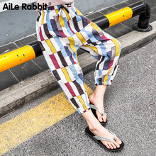 AiLe Rabbit 2019 Summer Girl Mosquito-proof Pants Seaside Holiday Bohemia Flower-proof Pants, Lanterns, Beach Broad-legged Pants(China)