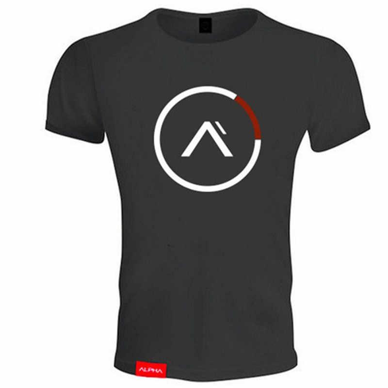 2019 Katun Gym Shirt Sport T Kemeja Pria Lengan Pendek Berjalan Kemeja Pria Pelatihan Pelatihan Tees Kebugaran Top Olahraga T-shirt penjaga Ruam