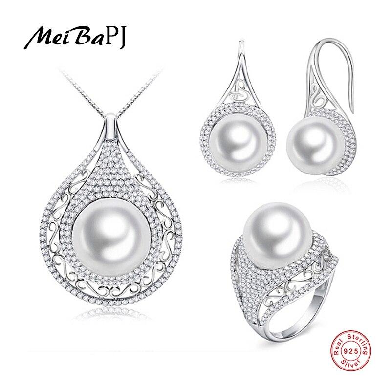 [MeiBaPJ] Promesa de alta calidad 4A conjuntos de joyas de perlas - Joyas - foto 1