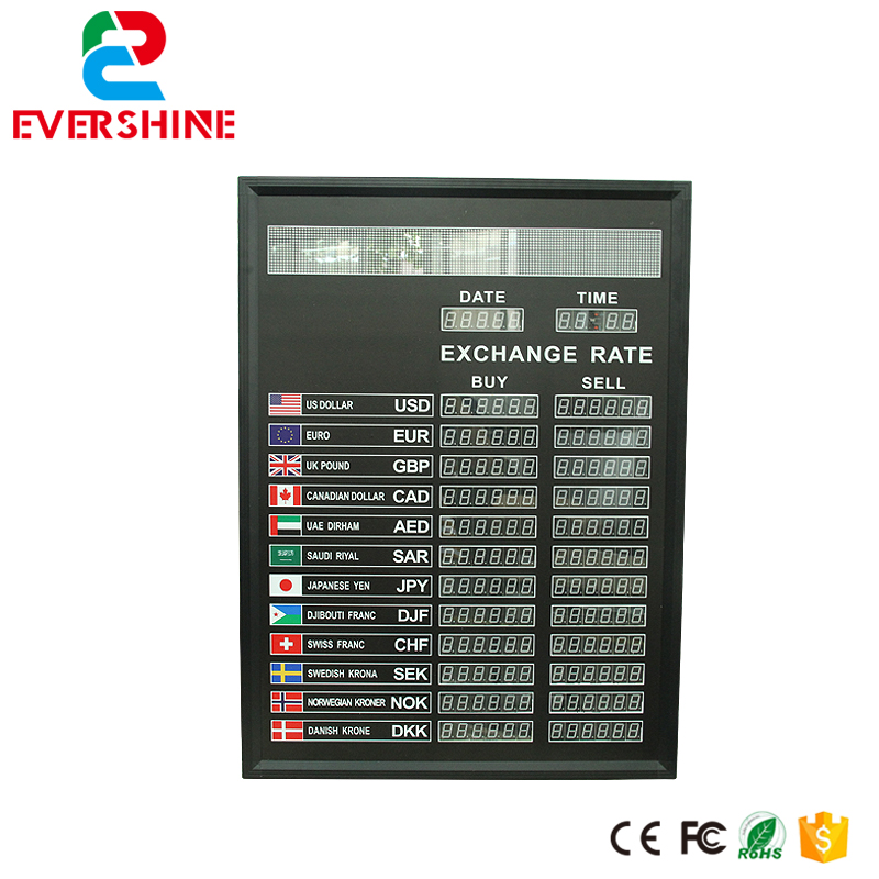 Bank Currency Exchange Rate LED Board for Multilingual Led Dispaly Panel 6 digit number step drill power tools 3pc drill bit wood countersink hss step drill bits set woodworking power tools metal hole opener