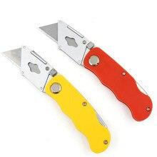 Высококачественный складной нож Художественный алюминиевый сплав нож для резки обоев большой нож для резки ковровых покрытий Flpper pocket