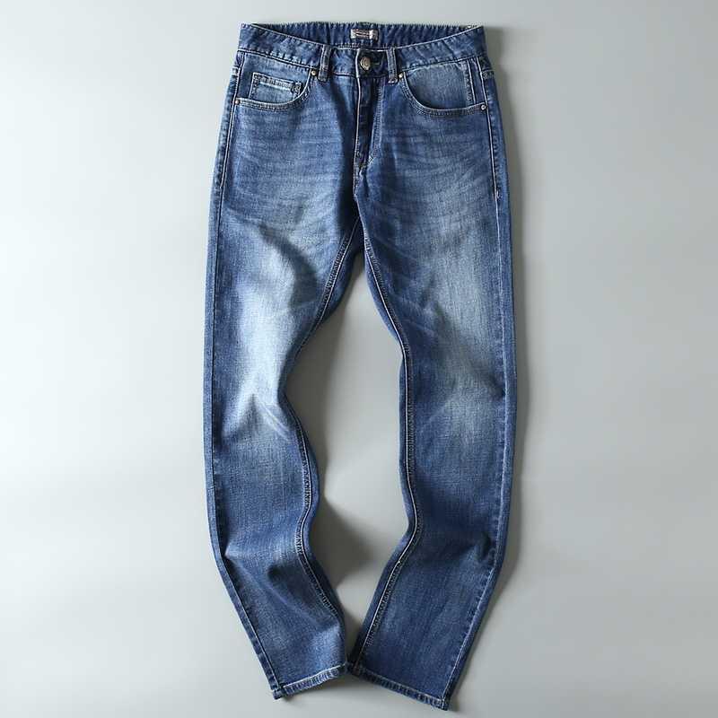 2019 для мужчин s бренд джинсы для женщин модные повседневное Slim fit прямые Высокие Стрейч средства ухода за кожей стоп узкие Джинс