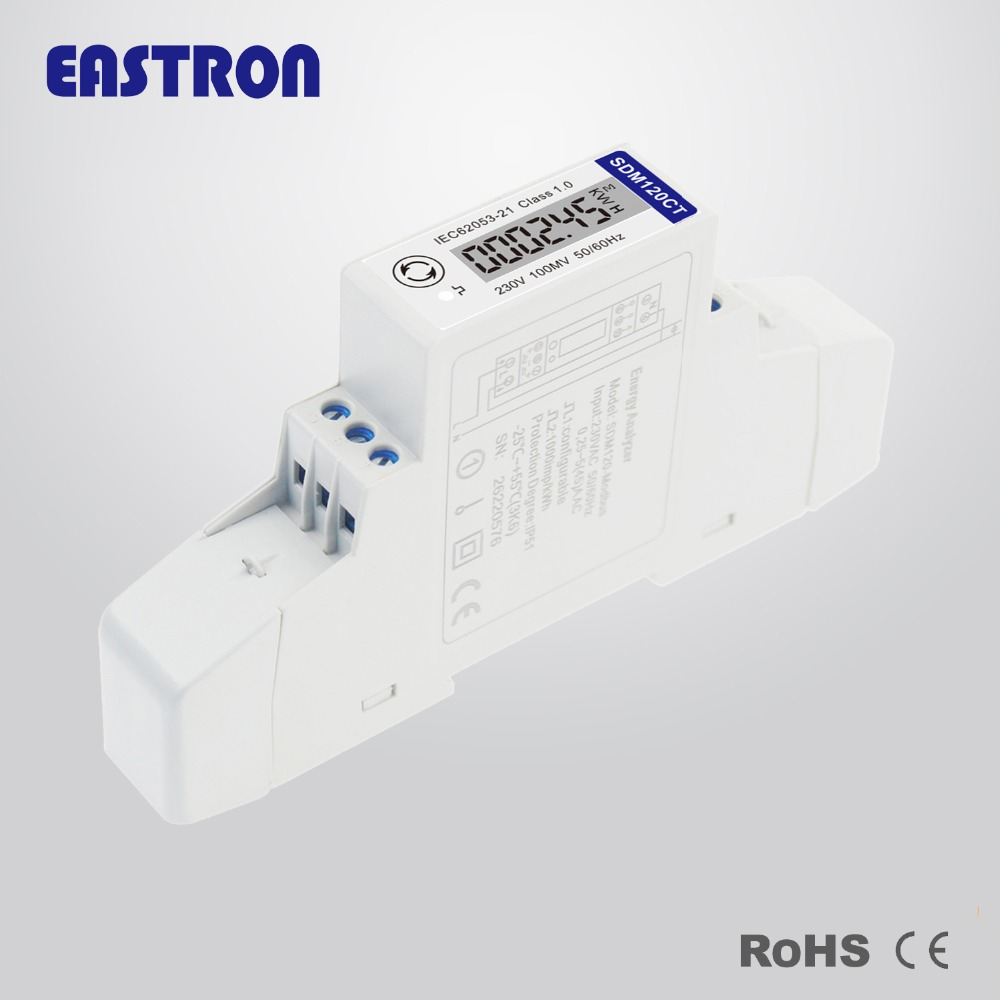 Buy Sdm120ct Mv 01v Input 1 Phase 2 Wire 230v Rs485 Diagram Modbus Kwhkvarhuipqpfhzdmd Din Rail Energy Meterce A From Reliable