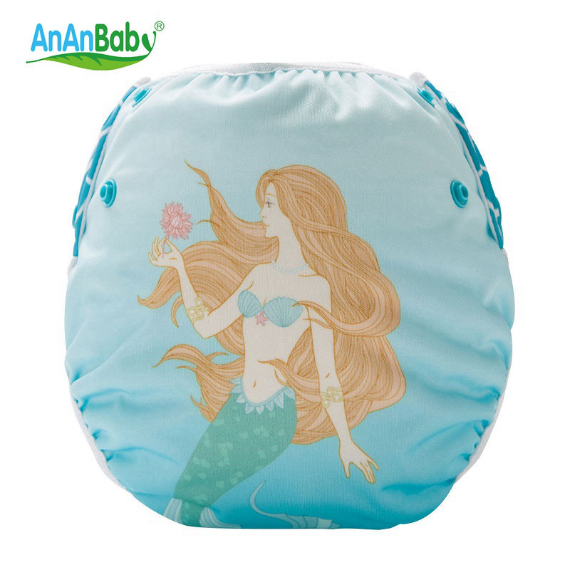 Ananbaby Baby Swim Diaper Waterproof Adjustable Cloth Diapers Pool Pant Swimming Diaper Cover Reusable Washable Nappies HA043S