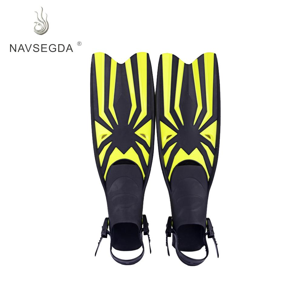 NAVSEGDA 2019 plongée en apnée palmes de natation chevilles flexibles et confortables adultes professionnels palmes de plongée palmes de natation