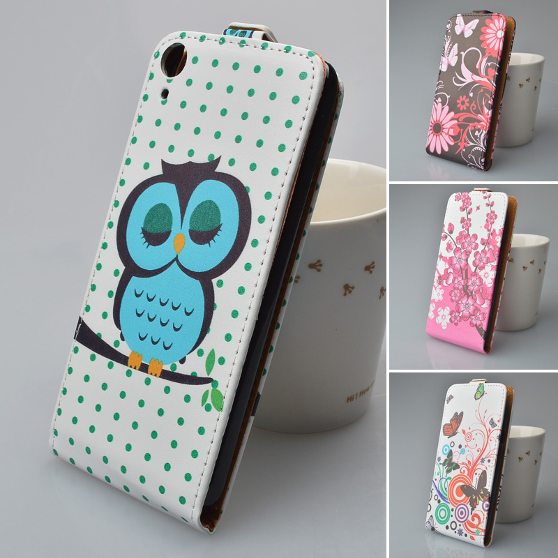 promo code 99995 5da9f Printing Cute Pattern Leather Case for HTC Desire 820 Dual SIM Flip Back  Cover 5 Colors Available-in Flip Cases from Cellphones & Telecommunications  ...