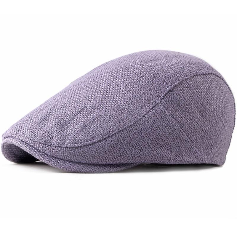 HT2277 9 Colors New Spring Summer Beret Men Women Solid Plain Cabbie ivy Flat Cap Breathable Painter Artist Hats