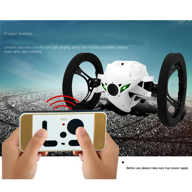 RC Jumping Bounce Car 4CH 2.4GHz with Flexible Wheels