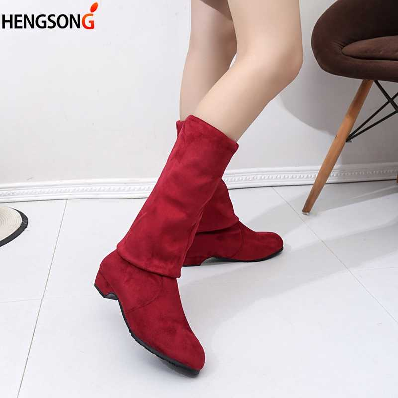Kadın Yüksek Çizmeler Ayakkabı Moda Kadınlar Diz Çizmeler Üzerinde Sonbahar Kış 2019 Akın BotasThigh Yüksek Kadın Botları