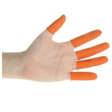BF040 Industrial latex finger Labor glove cots wear protection insurance finger gloves 6*2.5cm 300pcs latex finger golves orange antiskid rubber finger glove counting nail covers protectors cots antistatic fingertip guards