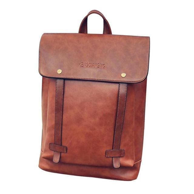 Pu Leather Document Backpack Men Women Vintage Leather Backpack Messenger School  Bag Laptop Travel Satchel 2 Colors Backpack 0552eac6bc3ac