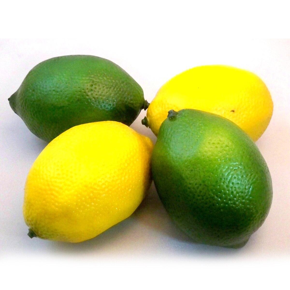 Artificial plants for kitchen - 2pcs Yellow 2pcs Green Artificial Fake Lemons Limes Fruit Kitchen Party Decorative Mold Beautiful Design