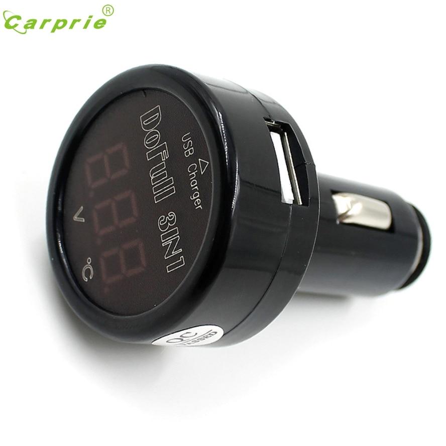 Довольно Авто 12 В 24 В <font><b>USB</b></font> Зарядное устройство светодиодный цифровой термометр Напряжение Батарея voltmetera