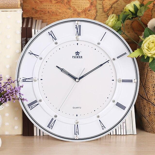 Puissance Marque 14 Pouce Grande Horloge Murale Moderne Salon Le