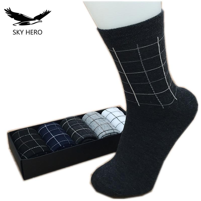 Mens Business Cotton Socks For Man Brand Autumn Winter Black Socks Male White Casual Socks 10pcs=5pairs/lot