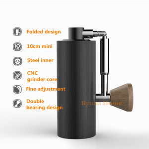 Image 3 - 1pc nano New foldable MYY48 Aluminum portable coffee grinder steel grinding super manual coffee mill Dulex bearing recommend