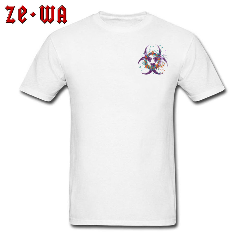 Normal Beautiful Biohazard Tops Shirt for Students 2018 Summer Round Neck Cotton Short Sleeve Top T-shirts 3D Printed T Shirt Beautiful Biohazard Chest white