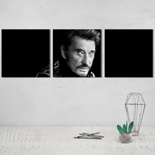 Johnny Hallyday Canvas Poster Pop Photo Picture Paintings on The Wall Tableau Decoration Salon Pictures for Living Room