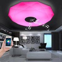 APP Music Ceiling Lights Led Lamps Dia 40/50cm Aluminum Acryl Remote Control High Brightness 220V RGB Dimming 36W lamparas