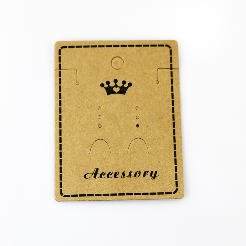 200Pcs/lot Kraft Paper Necklace Card 5.8x7.5cm Brown Jewelry Earrings Card Favor Earring Necklaces Display Packaging Cards