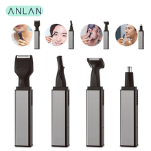 цена на ANLAN Ear Nose Hair Trimmer Men Trimmer Face Eyebrow Nose Hair Removal Razor Eyebrow Trimmer Rechargeable Nose Clipper Shaver
