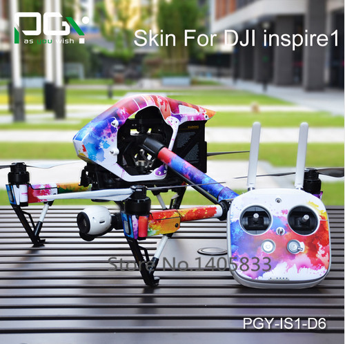 PGY-IS1-D6 DJI Inspire 1 Accessories Stickers for DJI inspire1 RC Protective 3M Skin film Cover Case Skin Decal drone Wrap Sheet