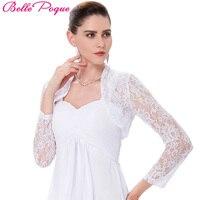 Belle Poque Long Sleeve Jacket New Fashion Slim White Black Outwear Women Short Lace Coat Cropped