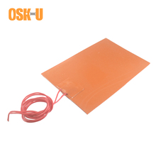 Anti-freezing Silicone Heater Pad 220V 100x100mm 100x150mm 1.5-1.8mm thickness Electric Heating Element for Oil Bucket