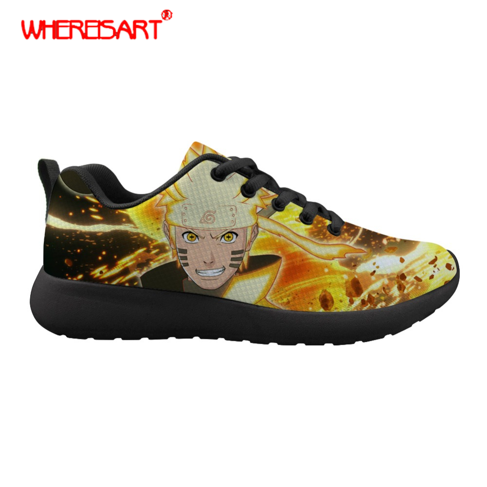 WHEREISART Anime Naruto Sneaker Shoes for Men 2019 Action Figure Print Man Shoes Outdoor Walking Footwear Male Teens Boys ShoesWHEREISART Anime Naruto Sneaker Shoes for Men 2019 Action Figure Print Man Shoes Outdoor Walking Footwear Male Teens Boys Shoes