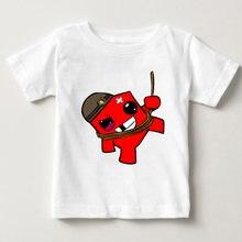 Детская Классическая футболка с принтом хлопковая простая 2020