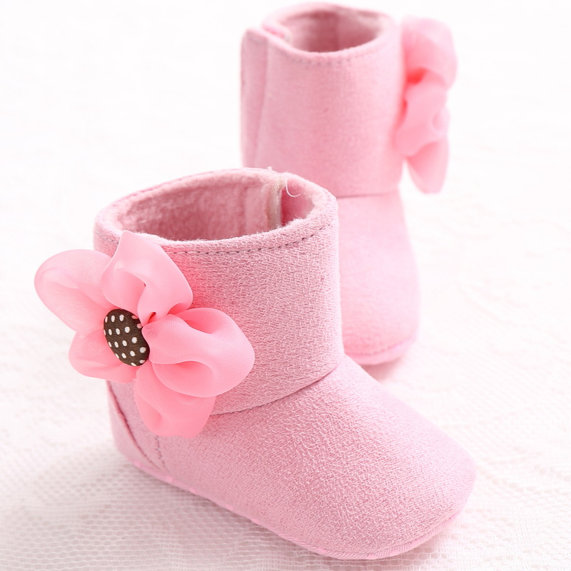 Newborn Baby Girls Shoes Boots Booties Kids Infant Bebe Keep Warm Winter  Big Flower Soft Soled Snow First Walkers Prewalkers -in First Walkers from  Mother ... ea163176c0f9
