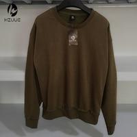 בז 'חאקי Streetwear HZIJUE הכי חדש Mens בגדי גברים נים סוודר גדולים הסווטשרט של מכסה המנוע Kpop עירוני מייצג בגדים