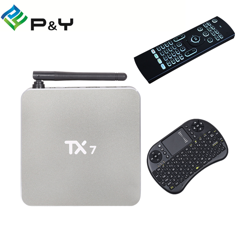 TX7 Smart Android 6.0 TV Box with Amlogic S905X Quad Core Dual Band WiFi 2.4GHz+5GHz Bluetooth 4.0 Mini PC KD Set Top Box askent s 7 1 tx