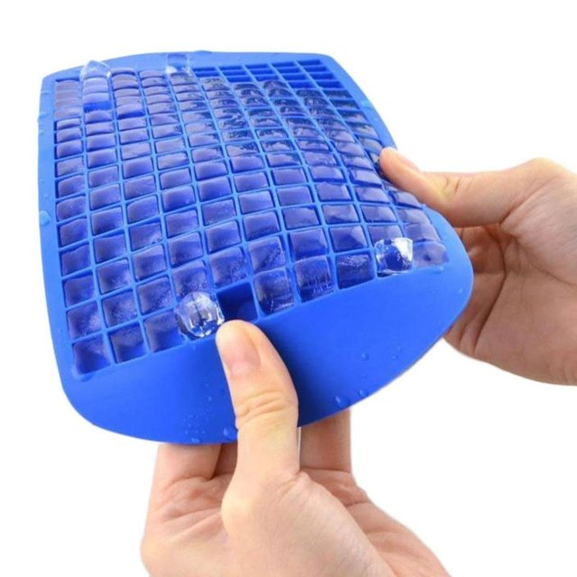 160 Grids DIY Creative Silicone Ice Cube Tray Frozen Ice Cream Maker Bar  Tools Kitchen Accessories