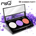 Professional 3 Colors Eyeshadow Cosmetics Palette Matte Makeup Palette For Fashion Beauty 6 Palette Can Choose MSQ Brand