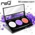 Profissional 3 cores de sombra cosméticos paleta paleta de maquiagem mate para a moda beleza 6 paleta pode escolher marca msq