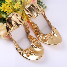 цена на USHINE PU Top Gold Soft Indian women Belly Dance Shoes Leather Belly Ballet Dance Shoes Children Girls Woman