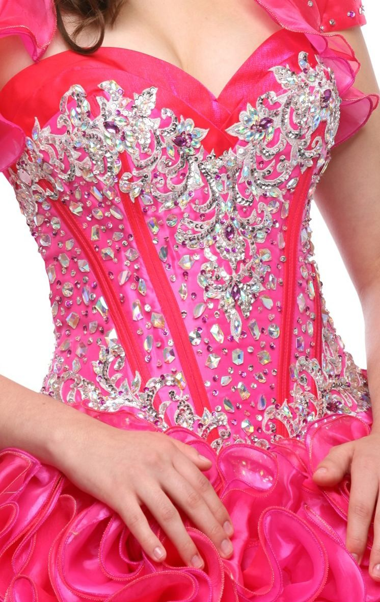 ball gown magenta quinceanera dresses