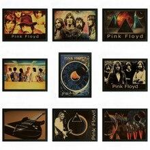Pink Floyd Vintage Retro rock band musik Gitarre Matte Kraftpapier Antikes Plakat Wandaufkleber Home Decora
